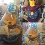 Winnie Pooh im Geschenkballon zur Geburt