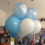 Ballons zum 1. Geburtstag in hellblau
