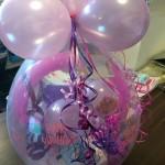 Geschenkballon in rosa und lila