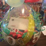 Geschenkballon mit Gutschein zum 50. Geburtstag