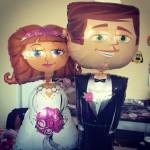Airwalker Hochzeitspaar
