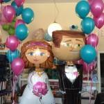 Heliumballons zur Hochzeit als Dekoration