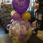 Geschenk im Ballon zum 30. Geburtstag