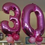 Ballonzahlen zum 30. Geburtstag