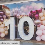 Ballongirlande zum Jubiläum