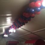 Ballongirlande zur Firmenfeier