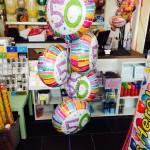 Ballons zum 50. Geburtstag