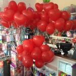 Heliumballons Herzen zur Hochzeit