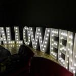Eventdekoration mit Leuchtbuchstaben