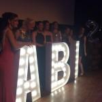 Leuchtbuchstaben Abi Party Berlin