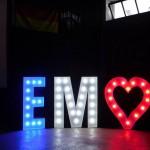 Leuchtbuchstaben EM 2016