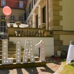Leuchtbuchstaben als Dekoration zum 1. Geburtstag