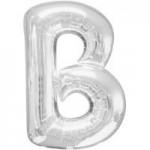 Berlin Buchstabenballons silber B
