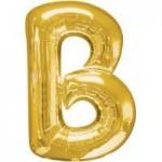 Berlin Buchstabenballons gold B