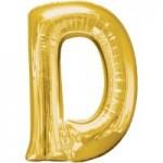Berlin Buchstabenballons gold D