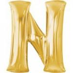 Berlin Buchstabenballons gold N