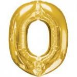 Berlin Buchstabenballons gold O