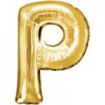 Berlin Buchstabenballons gold P