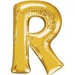 Berlin Buchstabenballons gold R