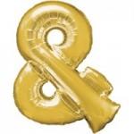Berlin Buchstabenballons gold & Zeichen