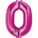 Zahlenballons Berlin pink 0