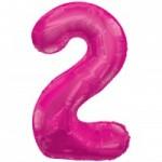 Zahlenballons Berlin pink 2