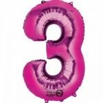 Zahlenballons Berlin pink 3