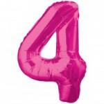 Zahlenballons Berlin pink 4