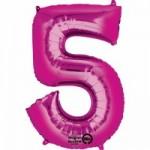 Zahlenballons Berlin pink 5