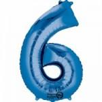 Zahlenballons Berlin blau 6