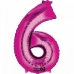 Zahlenballons Berlin pink 6