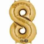 Zahlenballons Berlin gold 8
