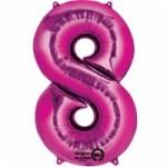Zahlenballons Berlin pink 8