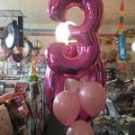 Ballonstrauss zum 3. Geburtstag