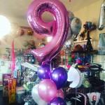 Ballonstrauss zum 9. Geburtstag