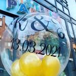 bedruckter Heliumballon zur Verlobung